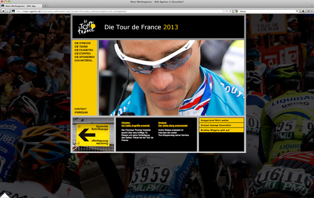 Tour de France Website 1