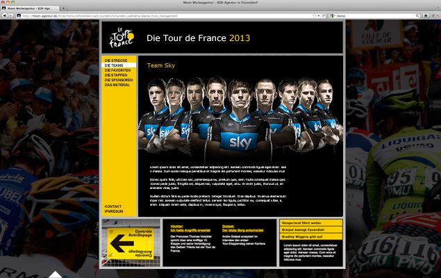 Tour de France Website 3